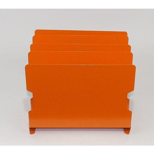 Orange Metal Desk Organizer - Image 8 of 9