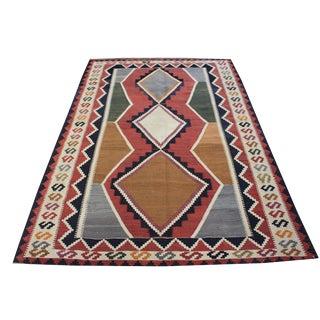 Vintage Traditional Tribal Turkish Kilim Rug - 5′2″ × 8′1″