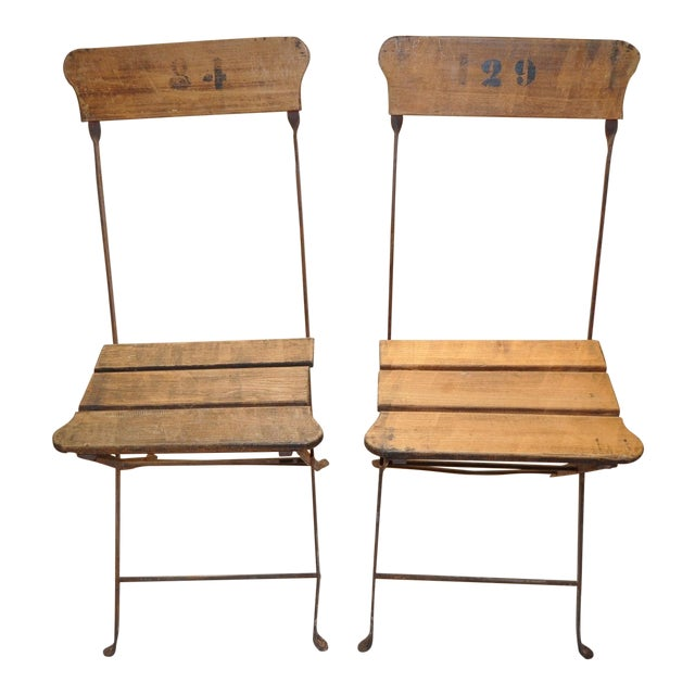French Campaign/Garden Chairs C.1890's - Pair - Image 1 of 6