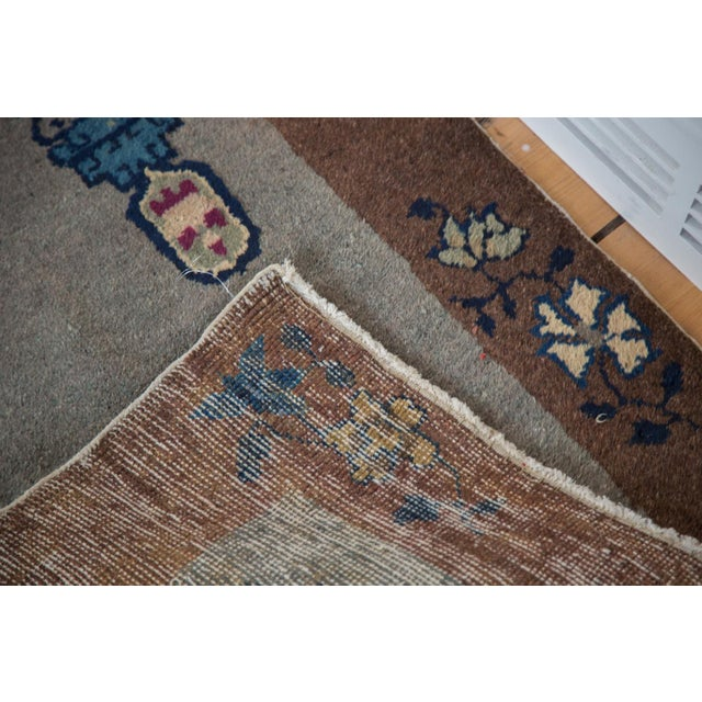 """Antique Art Deco Chinese Rug Mat - 2' X 2'11"""" - Image 7 of 7"""
