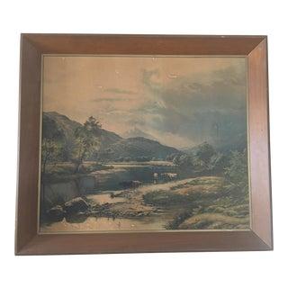 Framed Vintage Landsape Print