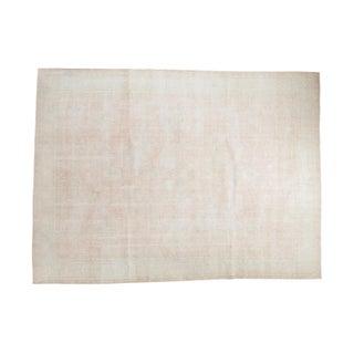 "Distressed Oushak Carpet - 9' x 12'2"""
