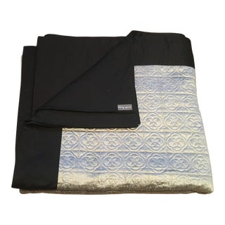 Black & Pewter Queen Size Quilted Blanket