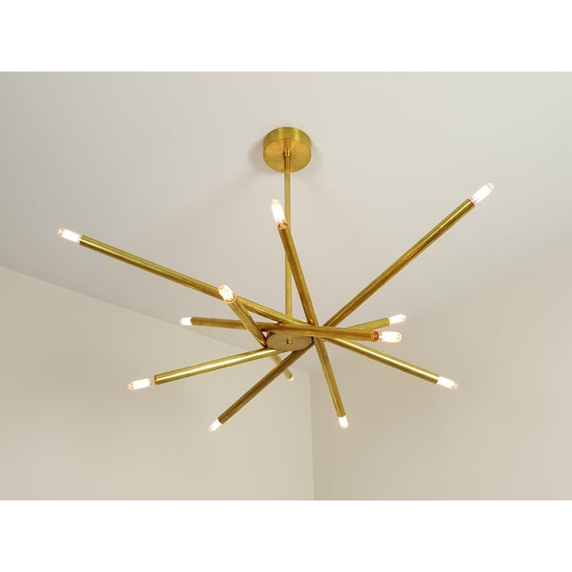 "Model 120 Sculptural Brass ""Nest"" Chandelier by Blueprint Lighting - Image 9 of 13"