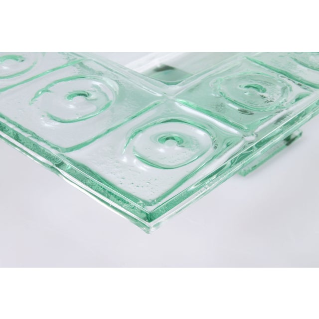 Floating Green Glass Centerpiece Tray - Image 6 of 11