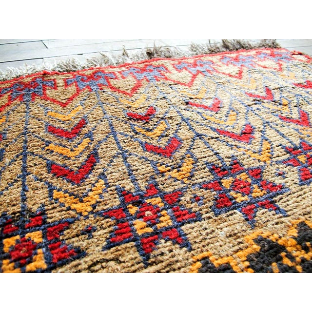 Vintage Brown Persian Tribal Rug - 2′8″ × 3′5″ - Image 4 of 6