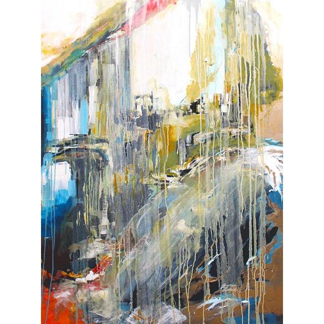 Image of Large Stone & Ice Acryllic Painting by Jaimee