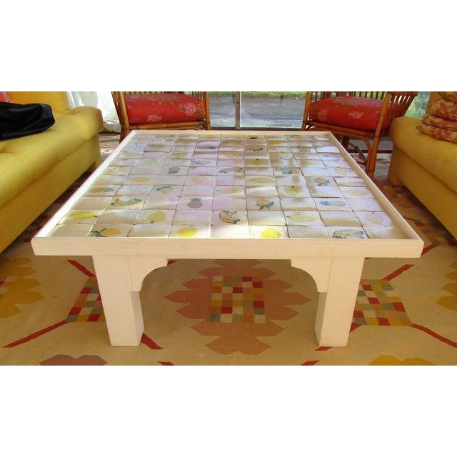 Custom Made Mario Genovesi Tile Top Table - Image 6 of 6
