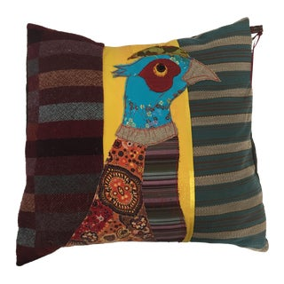 Handmade Patchwork Bird Pillow