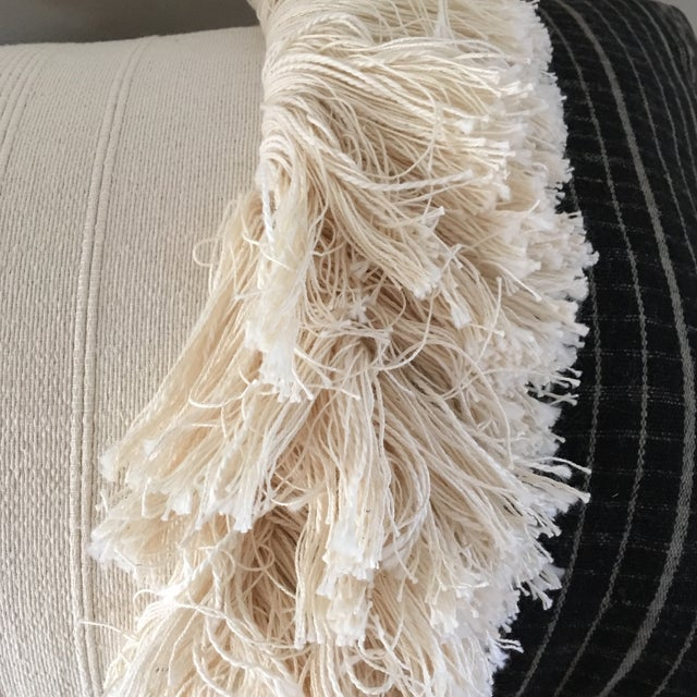 Image of Vintage Sumba Ikat Fringe Pillow