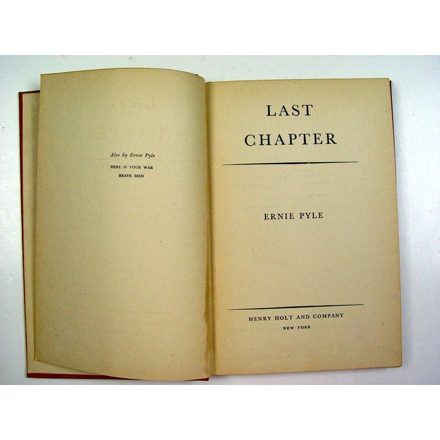 Last Chapter Book by Ernie Pyle - Image 3 of 4