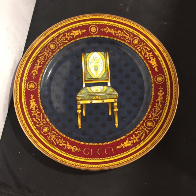 Gucci Porcellana Chair Plate - Image 2 of 6
