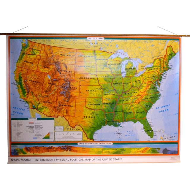 Image of Hanging Classroom Map of USA