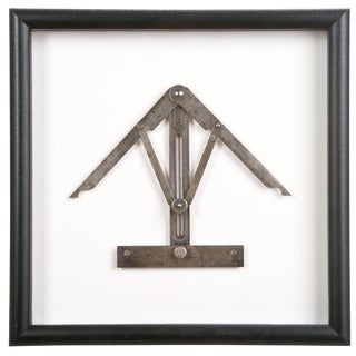 Framed Antique Stanley No. 30 Angle Divider