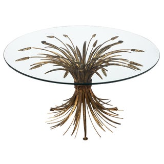 Vintage 'Sheaf of Wheat' Coco Chanel Coffee Table