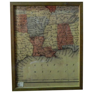 Antique Southeast Sectional Map of the USA