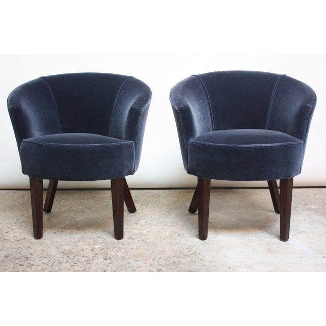 Pair of English George Smith 'Petworth' Tub Chairs in Mohair - Image 2 of 11