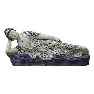 Chinese Porcelain Reclining Buddha Statue