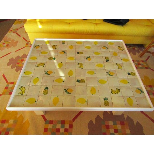 Custom Made Mario Genovesi Tile Top Table - Image 3 of 6