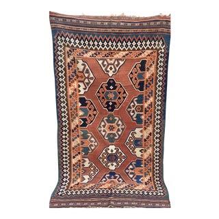 Vintage Persian Kilim Handmade Rug- 4'5'' X 7'11''