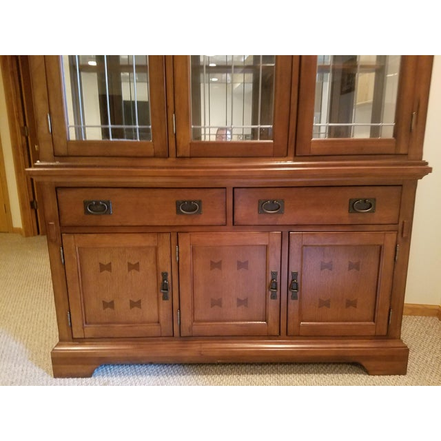 Wooden China Cabinet - Image 3 of 11