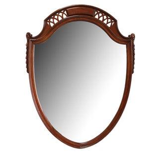 Traditional Mahogany Shield Shaped Mirror