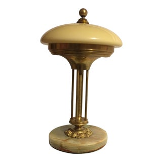Marble & Brass Antique Table Lamp