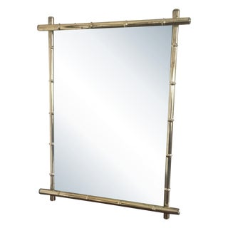Retro Brass Faux Bamboo Mirror