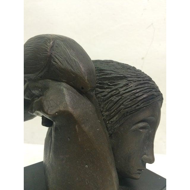 "Sunol Alvar Sculpture ""Mujer Con Paloma II"" - Image 5 of 6"