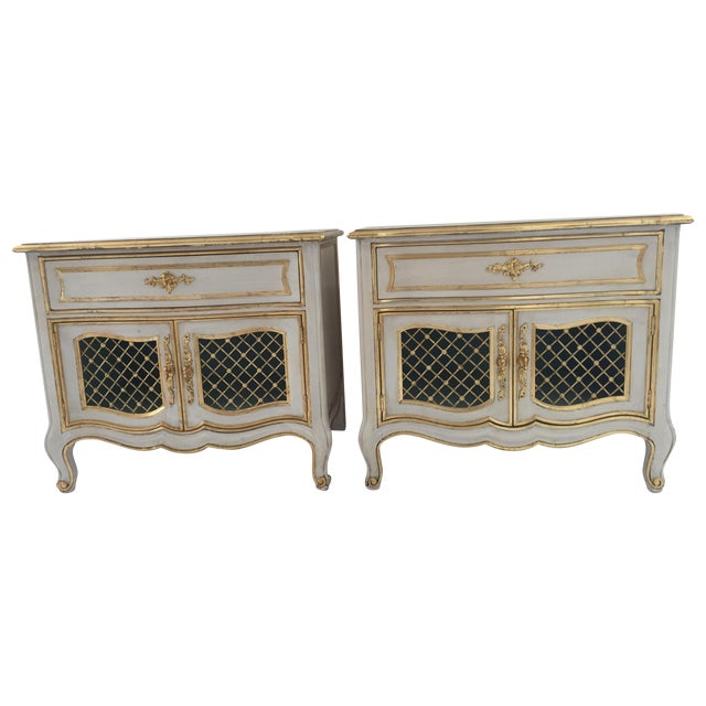 Painted Henredon French Cabinets - Pair - Image 1 of 6