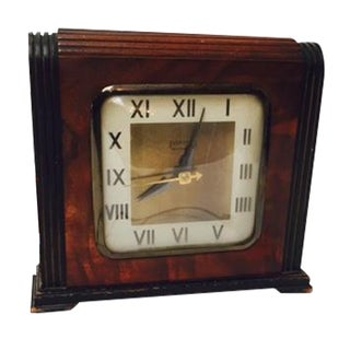 Ingram Wood Deco Electric Clock