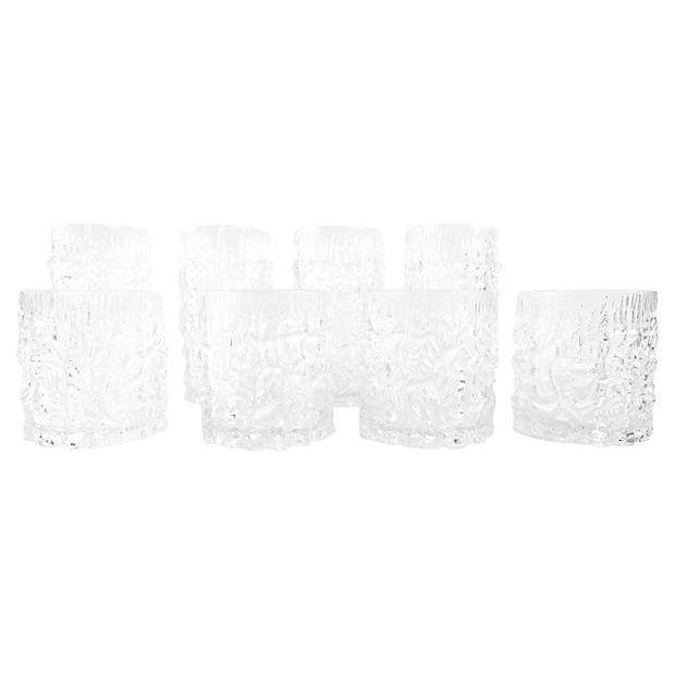 Lucite Icicle Glasses - Set of 8 - Image 1 of 5