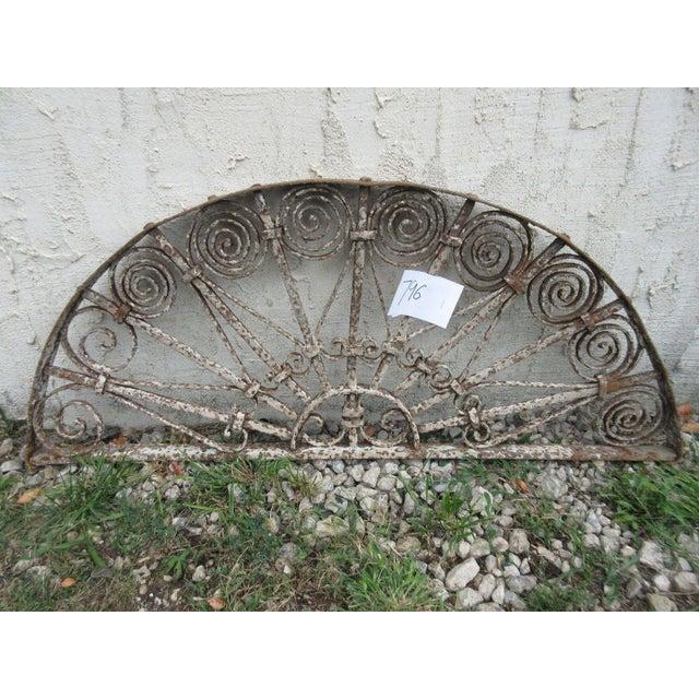 Antique Victorian Iron Garden Gate Window - Image 4 of 6