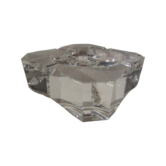 Clear Crystal French Ash Tray - Image 1 of 5
