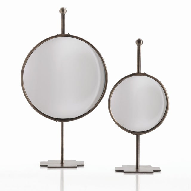 Image of Convex Garbo Mirrors by Arteriors - A Pair