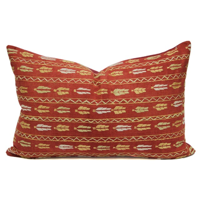 Image of Tribal Bagh Phulkari Lumbar Pillow