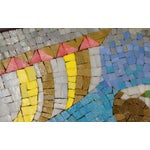Image of Rare Evelyn Ackerman Mosaic Tile Wall Hanging, Grecian Long Boat Scene