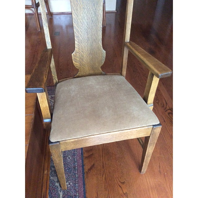 Antique Claw Foot Dining Table & 4 Chairs - Image 9 of 11