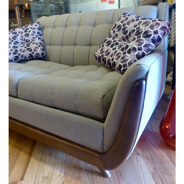 Bassett Mid Century Persall Style Sleeper Sofa - Image 5 of 6