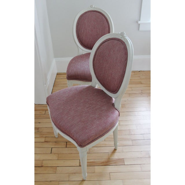 Image of Swedish Gustavian Style Side Chairs - A Pair