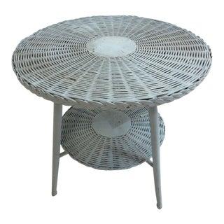 Antique Victorian Wicker Patio Dinette Table