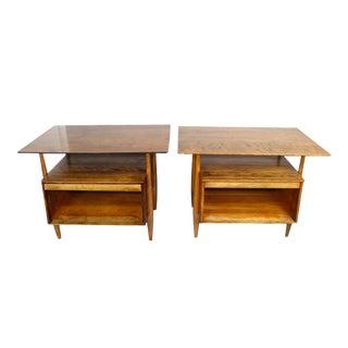 Kai Kristiansen Style Tambour End Tables - Pair