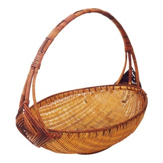 Vintage Woven Bread or Fruit Basket
