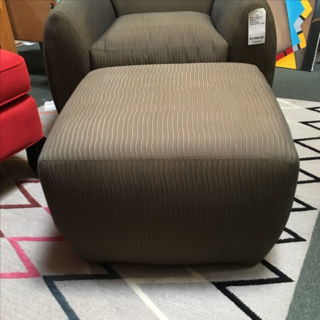 Dakota Jackson Ke-Zu Chair & Ottoman Set - Image 3 of 9
