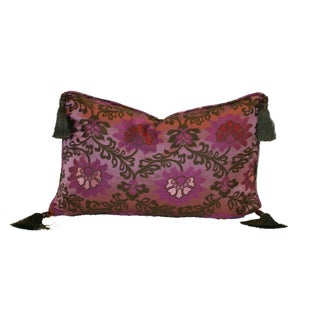 Purple Lotus Silk Brocade 12x18 Pillow