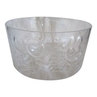 Modern Clear Glass Raised Tree Bowl