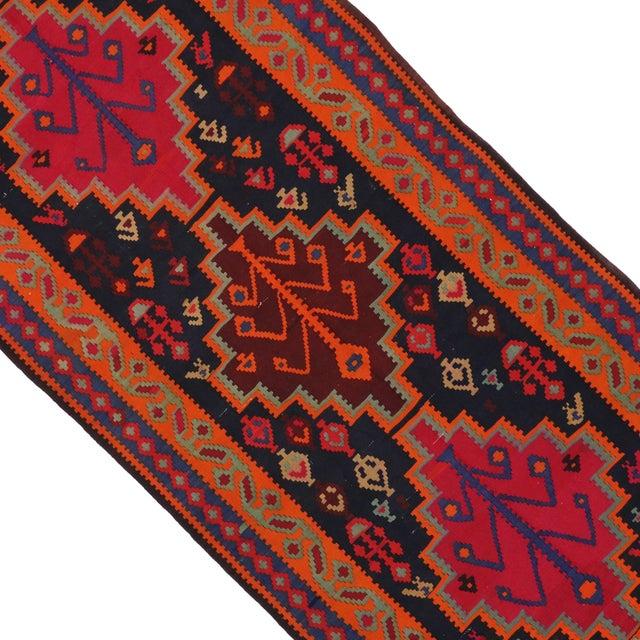"Image of Boho Chic Vintage Persian Tribal Kilim Rug Runner - 5'3"" X 11'3"""