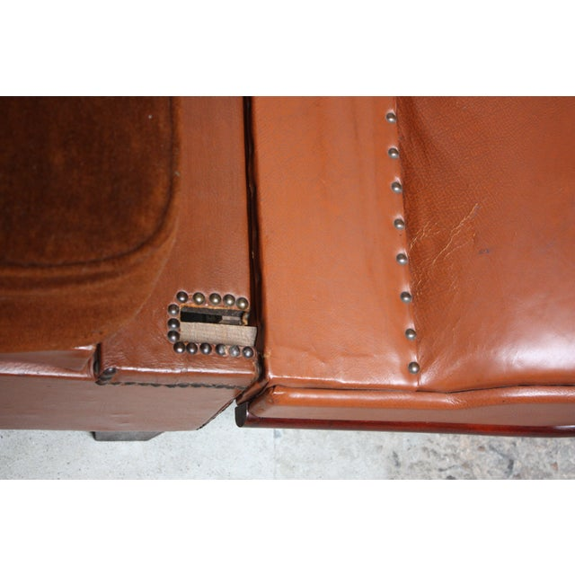 French Deco Leather and Mohair Daybed - Image 10 of 11