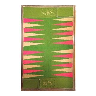 """Mid-Century Lucite /Needlepoint Backgammon Board-31"""""""
