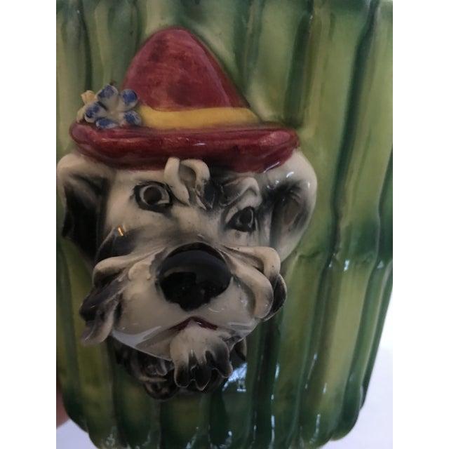 Italian Terrier Dog & Bamboo Wall Pockets - A Pair - Image 7 of 11